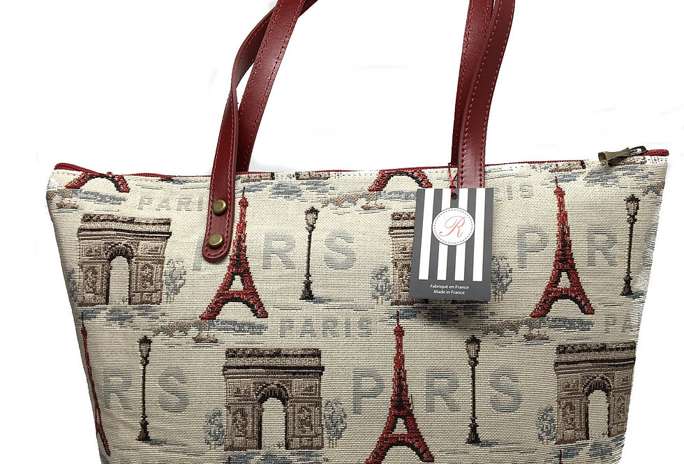 """Royal Tapisserie Small Tote Bag, """"Eiffel Tower"""""""