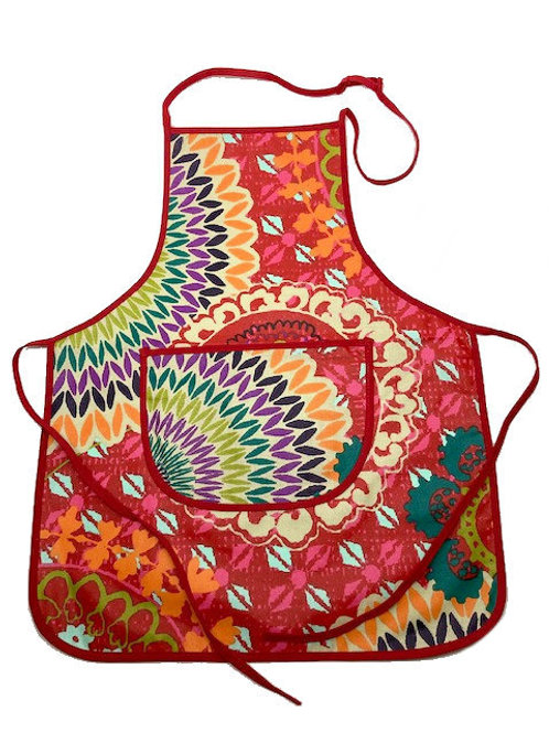 Wipe-off Acrylic-coated Kid's Apron for young chefs and artists (B)