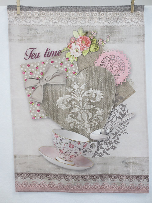 Dish Towel - Heart / Tea CS