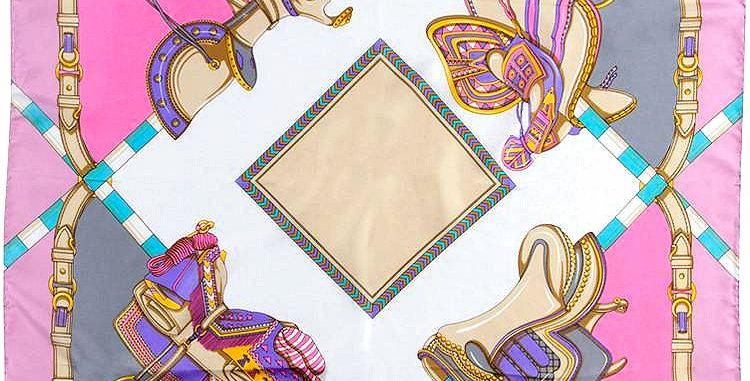 French Designer Rodier Equestrian Silk Scarf - PG