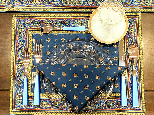 """Set of 6 placemats and 6 Napkins, """"Royal Decor"""""""