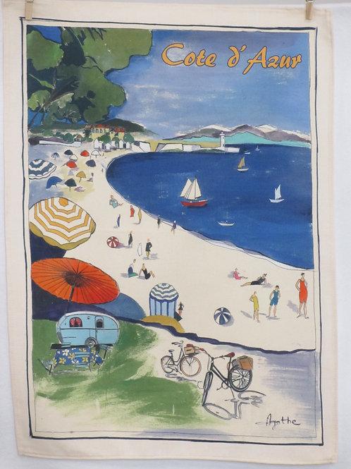 Dish Towel - Cote d'Azur / Beach