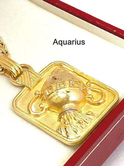 Zodiac 18K Gold Plated Pendant