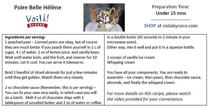 Poire Belle Helene Recipe Card.JPG