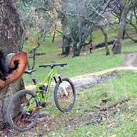 Trail work at Fernandez Ranch