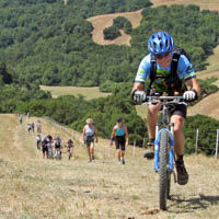 Trail etiquette ride with bikes, hikers and equestrians