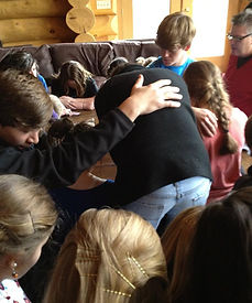 Altar call at retreat