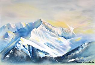 Lumière sur Le Mont Blanc