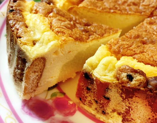 cheese cake tarte with bran cookies