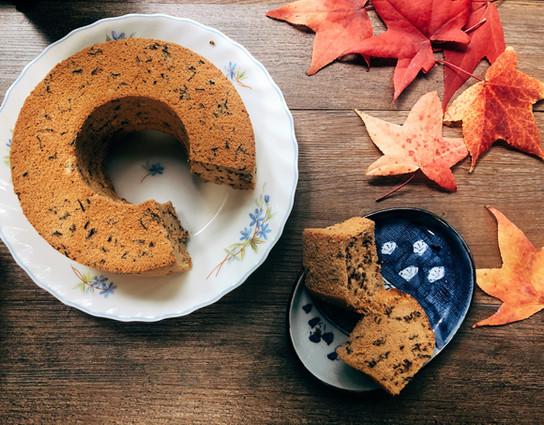 Chiffon cake with rice flour&Tea leaves( gluten-free )