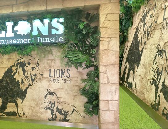 Amusement Booth design : LIONS