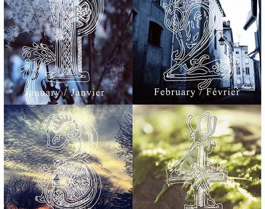 calendar's typography