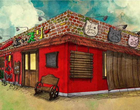 Restaurant's exterior design : V3