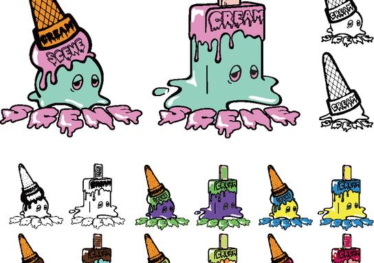 Cream scene : caracter design