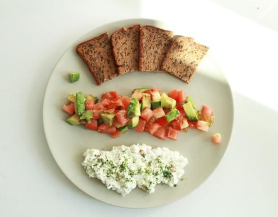 Rye bread lunch