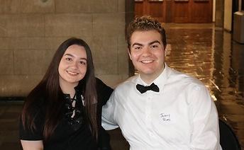 Olivia Rotondo (left) and Jeremy Rives (right) at PRowl Public Relations' 10th Anniversary Celebration on April 20, 2018.