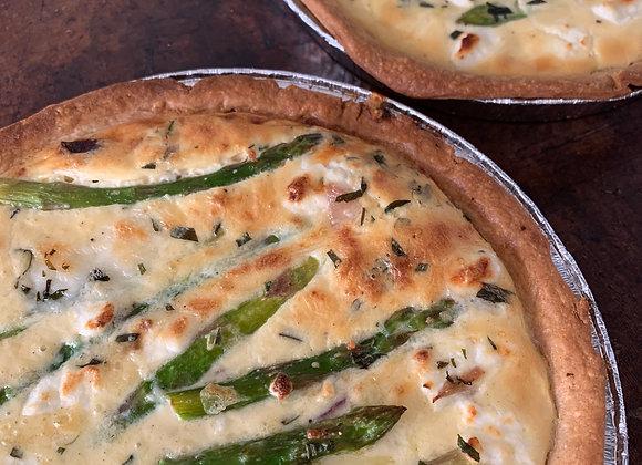 Asparagus, Wild Garlic & Goats Cheese Tart