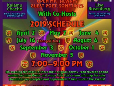 This week at Cafe Zoë! (7/15)