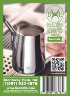 Bennlife賓尼生活 不銹鋼拉花杯(350ml) 不銹鋼加厚尖嘴拉花杯手打奶泡拉花壺花式咖啡杯 (1件)