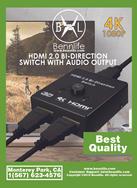 Bennlife賓尼生活 HDMI高清雙向切換器 2.0 一進二出分配器 hdmi分配器1進2出