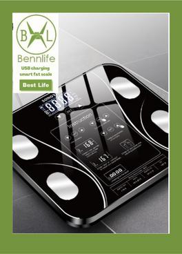 Bennlife 賓尼生活 USB充電電子智能體脂 脂肪體重秤