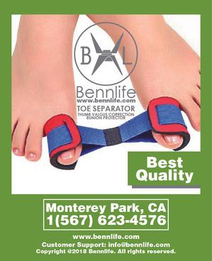 Bennlife賓尼生活 拇指矯正器, 拇外翻運動帶 減輕步行痛楚
