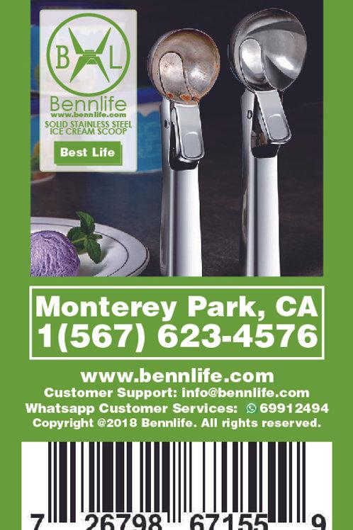 Bennlife 賓尼生活 二合一咖啡夾勺 帶夾咖啡勺(金色)