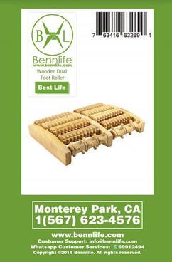 Bennlife 賓尼生活 天然荷木足底按摩器 足底滾輪按摩器