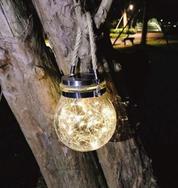 Bennlife 賓尼生活 太陽能裂紋玻璃掛燈 LED燈(黃光)