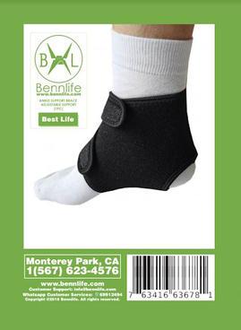 Bennlife 賓尼生活 運動護踝 護腳踝 雙扣加壓護踝(1隻)
