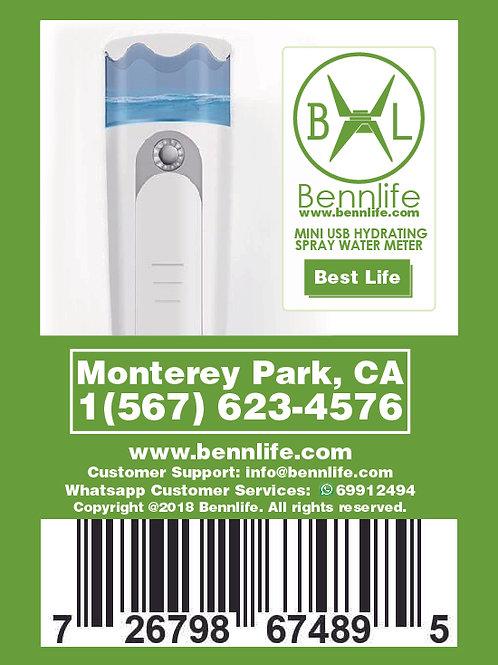 Bennlife賓尼生活 納米噴霧補濕器 USB充電 面部加濕神器 (白色)