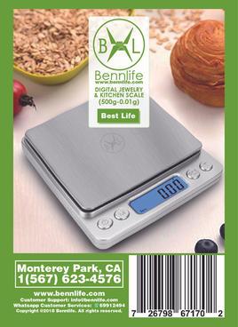 Bennlife  賓尼生活 廚房食物電子秤/料理秤/測量工具/烘焙用品/0.05g-500g(1件)