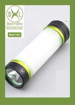 Bennlife  賓尼生活 戶外露營防水LED多功能手電筒(綠色,一件)