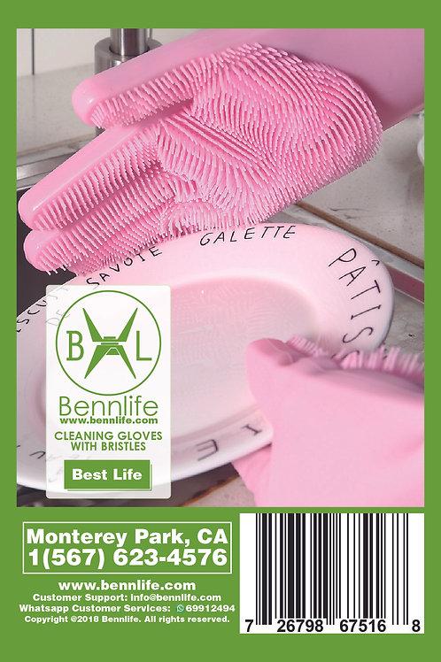 Bennlife 賓尼生活 魔術刷毛洗碗手套
