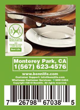Bennlife 賓尼生活 不銹鋼蛋糕切片刀/烘焙工具蛋糕分割器