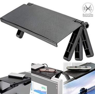 Bennlife 賓尼生活 電腦螢幕頂部存物架/置物架/螢幕收納支架 (黑色, 1件)