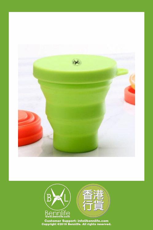 Bennlife 賓尼生活 可折疊便携矽膠水杯 迷你水杯 190ml(綠色)