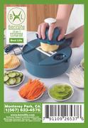 Bennlife賓尼生活 12件廚房多功能切蔬菜套裝 手動切片(藍色)