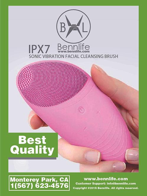 Bennlife賓尼生活 電動防水矽膠洗面清潔神器 (粉紅色)
