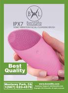Bennlife賓尼生活 電動防水矽膠洗臉清潔神器 (粉紅色,1件)