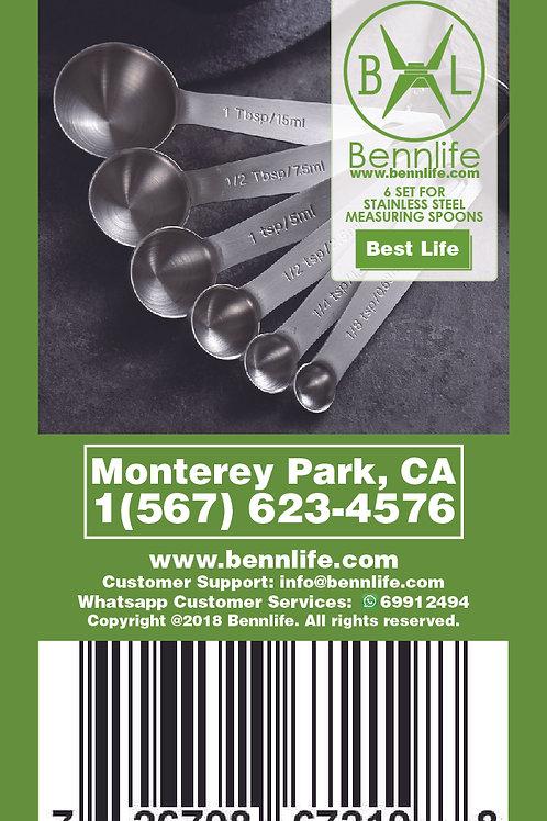 Bennlife賓尼生活  一套六件不銹鋼量匙