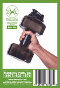 Bennlife 賓尼生活 2.2L啞鈴水樽 水樽當啞鈴同步收腰、減手臂 便攜式塑膠啞鈴