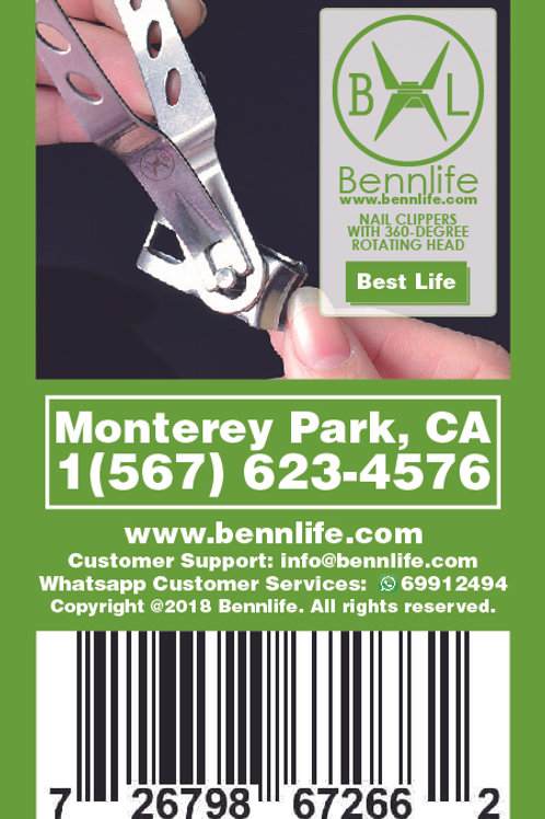 Bennlife賓尼生活  360度旋轉頭指甲鉗 (銀色)