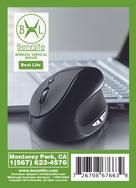 Bennlife 賓尼生活 充電式無線垂直滑鼠/附送充電USB線 (黑色,1件, 無線款)