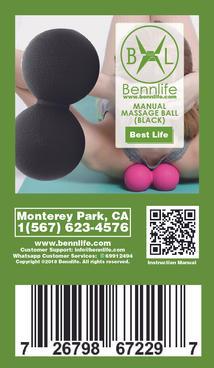Bennlife賓尼生活 筋膜球肌肉放鬆瑜伽按摩球  (隋機顏色, 大個)