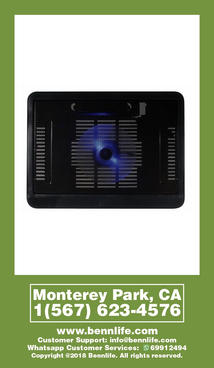 Bennlife 賓尼生活 筆記本散熱器底座 (適用於lenovo、Hewlett-Packard、華碩等通用筆記本散熱器n19)