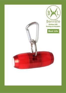 Bennlife  賓尼生活 戶外露營夜跑登山背包LED閃光警示信號燈(紅色,一件)
