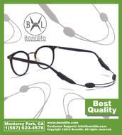 Bennlife賓尼生活 可調節眼鏡固定掛繩 眼鏡掛繩防滑繩 (黑色)