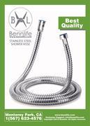 Bennlife賓尼生活 1.5米不銹鋼鋼絲花灑軟喉管4分接口 全香港至抵買