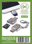 Bennlife賓尼生活 USB 3.1 type C 讀卡器 手機電話平板電腦TF Card(1個)
